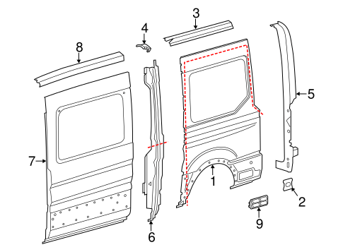 Side Panel & Components for 2016 Ford Transit-250