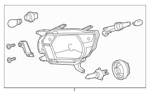2012-2015 Toyota Tacoma Headlamp Assembly 81150-04181