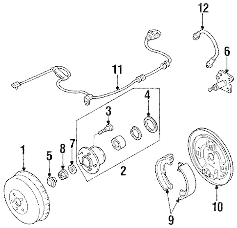 BRAKE COMPONENTS for 2000 Mercury Villager