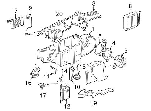 Dodge HVAC Evaporator Components parts for a 2000 Dodge