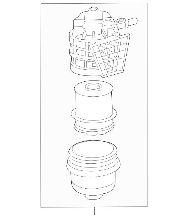 2014-2015 Chevrolet Cruze Water Separator 22937278