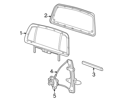 Glass, Windows & Related Components for 2001 Ford Explorer