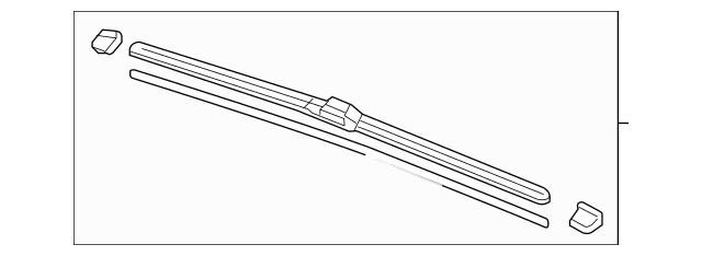 Acura Blade, Windshield Wiper (650MM) (Driver Side) 76620