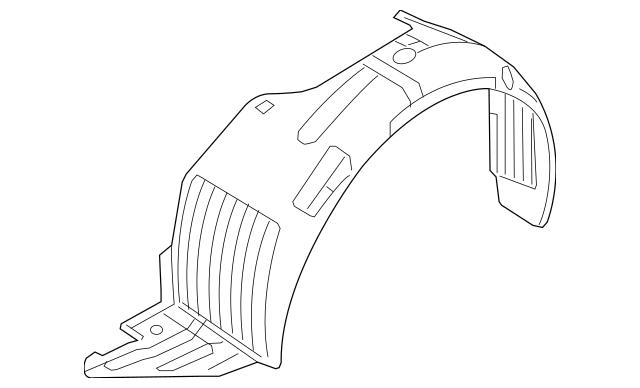 2013-2015 Hyundai Elantra GT Fender Liner Right[pass