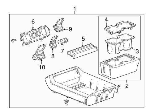 OEM 2015 Chevrolet Silverado 3500 HD Center Console Parts