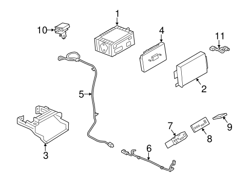 Navigation System Components for 2014 Ford Escape