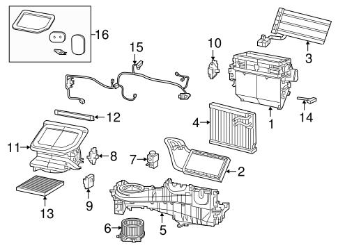 Evaporator & Heater Components for 2018 Jeep Wrangler