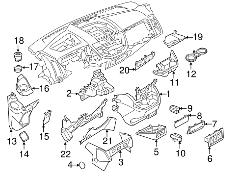 Instrument Panel Components for 2015 Ford Transit-150