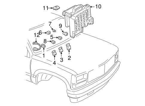 Fuel System Components for 1998 Chevrolet C1500 (Silverado