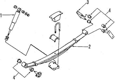 REAR SUSPENSION for 1997 Nissan Pickup