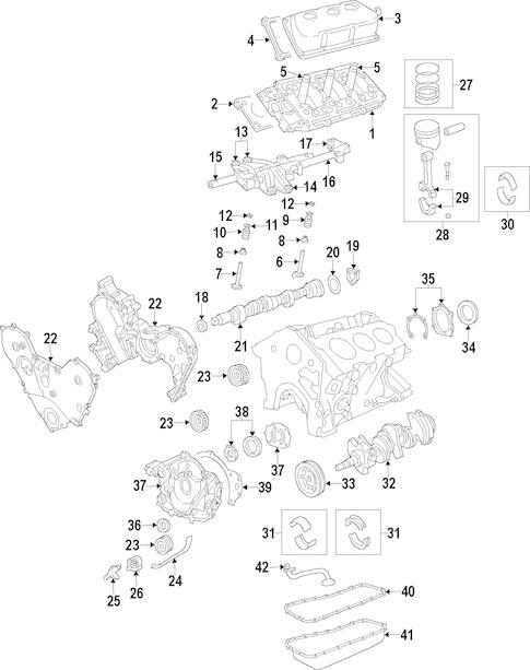 Dodge ENGINE ENGINE PARTS parts for a 2010 Dodge Nitro