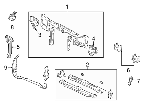 RADIATOR SUPPORT for 2001 Ford Escape