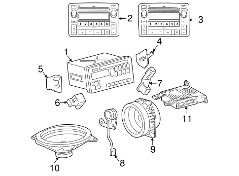 Genuine OEM Sound System Parts for 2003 Toyota Corolla LE