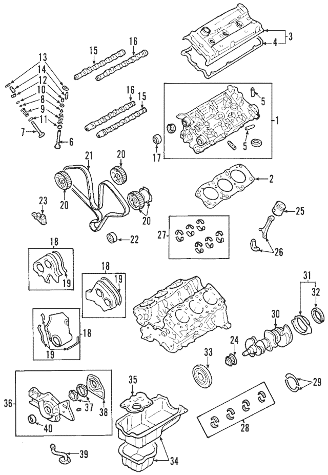 Genuine OEM Upper Timing Cover Part# 21360-39800 Fits 2003