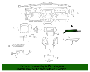 Genuine 20122014 Jeep Grand Cherokee Applique Panel