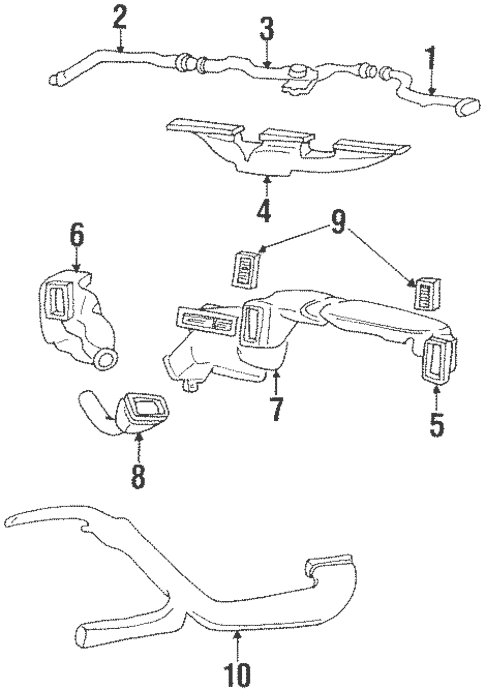 Instrument Panel Components for 1998 Jeep Grand Cherokee