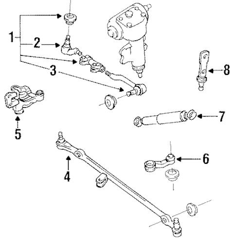 STEERING GEAR & LINKAGE for 1996 Nissan Pickup