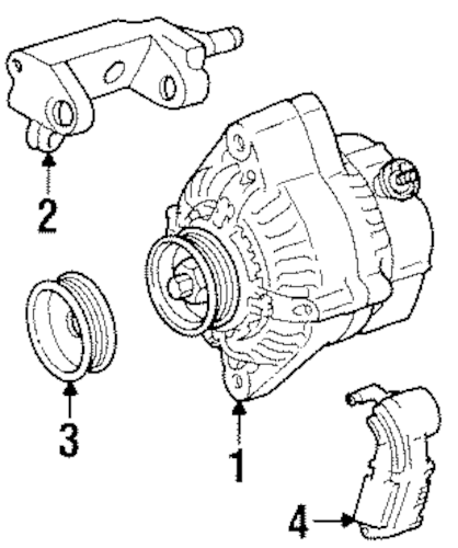 Genuine OEM Alternator Parts for 1997 Toyota T100 SR5