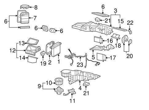 OEM 2004 Chevrolet Tahoe Condenser, Compressor & Lines