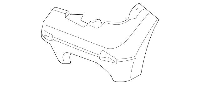 2009-2019 Nissan Frontier Bumper Bracket 62223-ZL00B