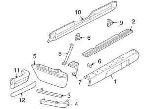 OEM 1997 Chevrolet Blazer Bumper & Components  Rear Parts