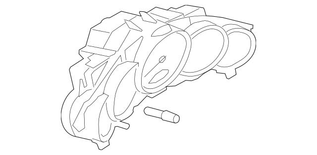 2010-2012 Porsche Panamera Instrument Cluster 970-641-146