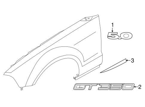 Ford Mustang Rh Right Passenger Side Fender Name Plate