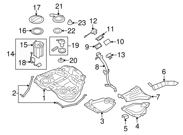 1990-2021 Subaru Fuel Filter [Internal] 42072AA121