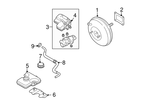 Genuine OEM Hydraulic System Parts For 2006 Mazda 5