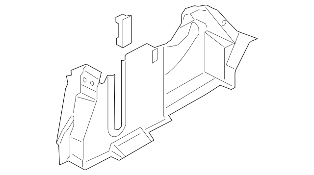 2013-2014 Lincoln MKZ Side Trim Panel DP5Z-5445422-CC