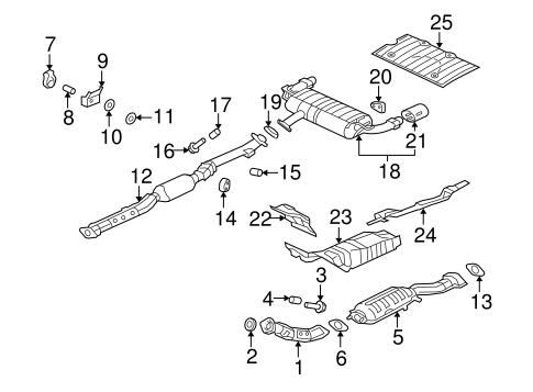 Exhaust Components for 2008 Mitsubishi Lancer Evolution MR