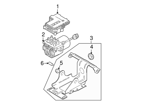 ABS Components for 2001 GMC Sonoma