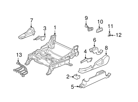 Tracks & Components for 2004 Mitsubishi Endeavor XLS