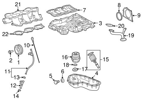 Genuine OEM Engine Parts Parts for 2007 Toyota RAV4