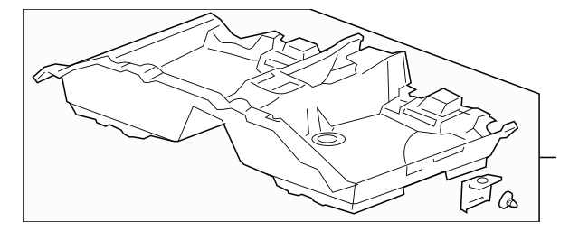Genuine 2008-2010 Honda ACCORD SEDAN Carpet Assembly, Rear