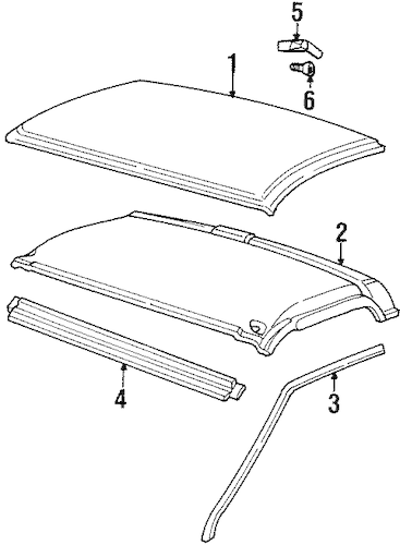 OEM ROOF & COMPONENTS for 1991 GMC C1500 Pickup