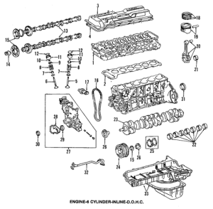 Genuine OEM Engine Parts Parts for 1994 Toyota Land