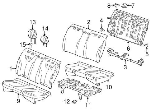REAR SEAT COMPONENTS for 2013 Dodge Dart