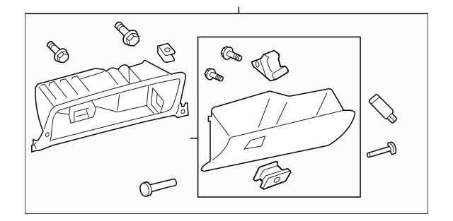 2011-2012 Toyota Avalon Glove Box Assembly 55303-07010-C0