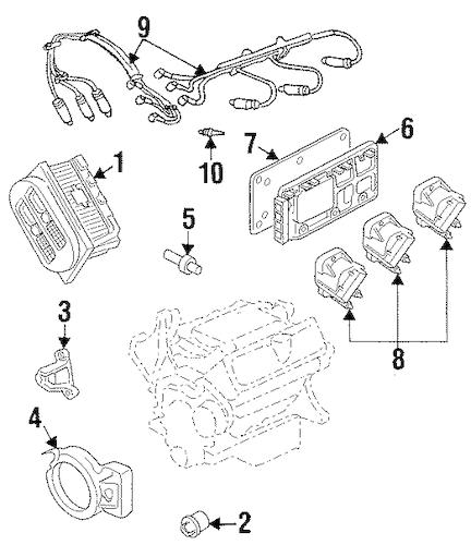 OEM 2001 Pontiac Grand Prix Ignition System Parts