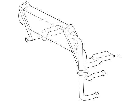 Power Steering Oil Cooler for 2002 Lincoln Blackwood