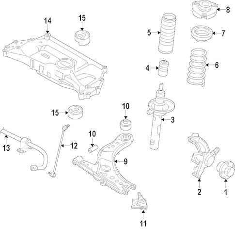 OEM VW Front Suspension for 2014 Volkswagen Passat