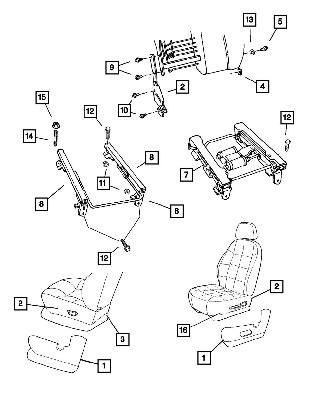 Genuine MOPAR Manual Seat Adjuster Driver Outboard