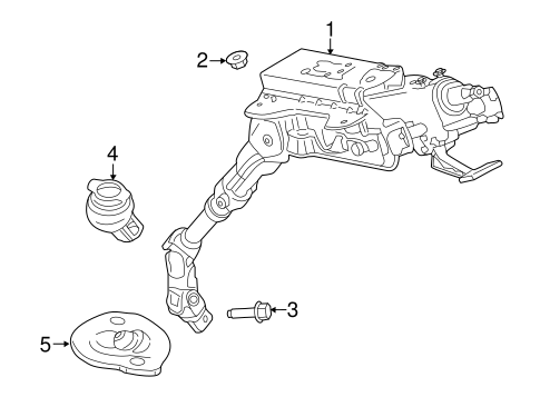 Steering Column Assembly for 2016 Ford Transit-350
