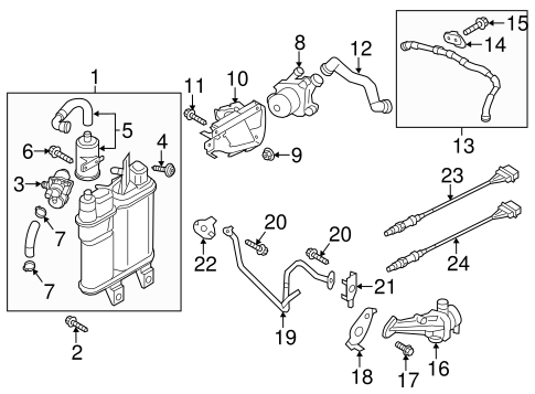 Secondary Air Injection System for 2012 Volkswagen Passat