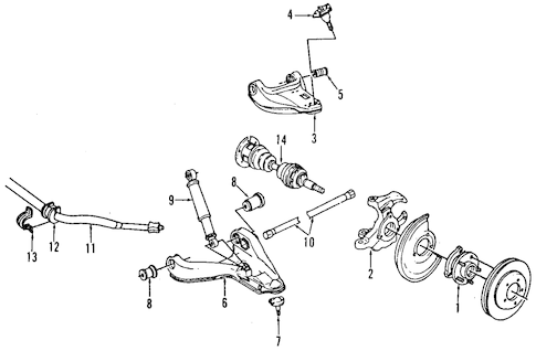 OEM 1999 GMC Jimmy Suspension Components Parts