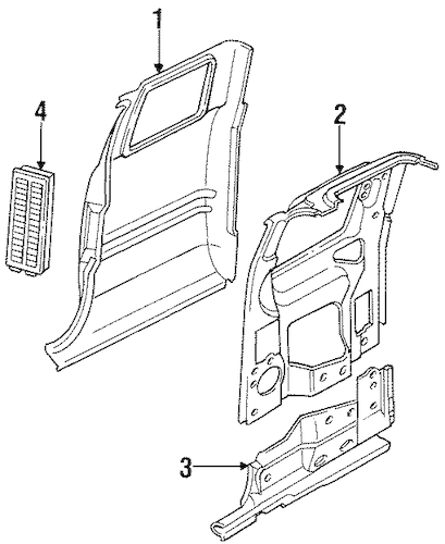 Side Panel & Components for 1998 Dodge Ram 1500 Parts