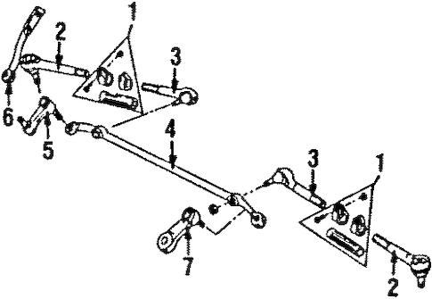 OEM STEERING GEAR & LINKAGE for 1986 Chevrolet C/K Pickup