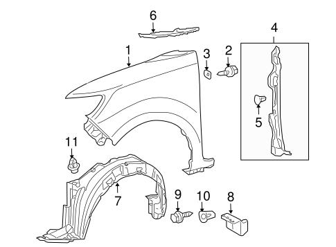 Genuine OEM Fender & Components Parts for 2011 Scion xB