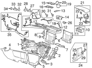 OEM 2012 GMC Terrain Center Console Parts | GMPartsOnline
